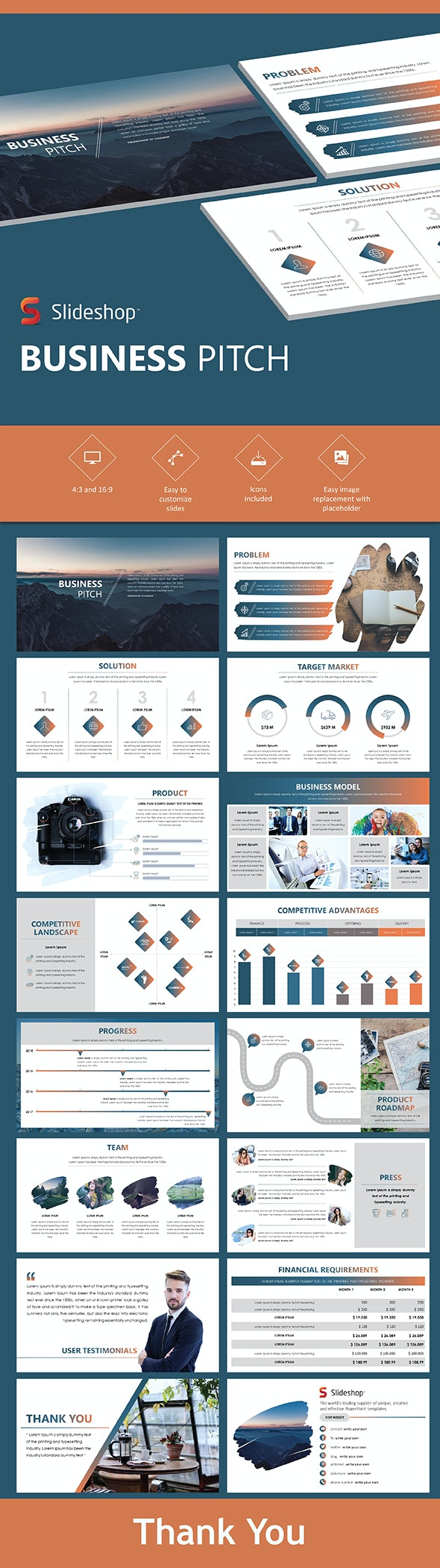 Business Pitch - PowerPoint Templates Presentation Templates