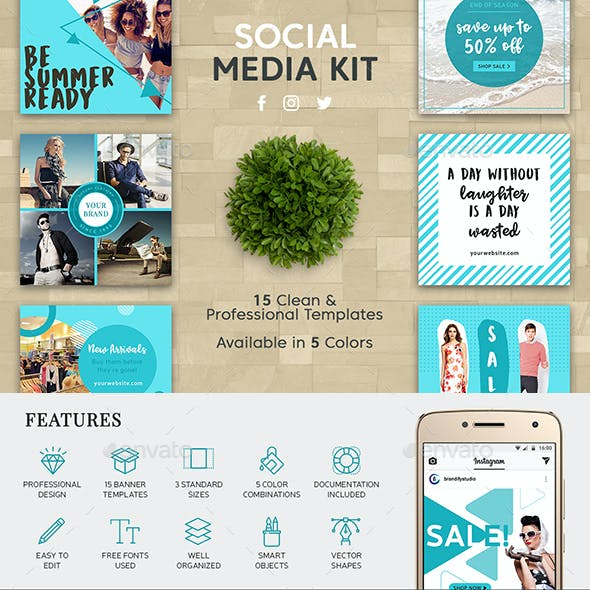 Instagram Banners Graphics, Designs & Templates