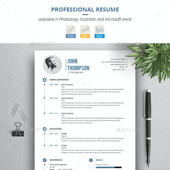 Clean, Professional Resume with Cover Letter