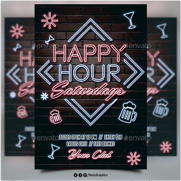 Happy Hour Saturdays