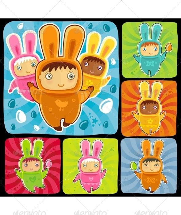 Baby Bunnies - Characters Vectors
