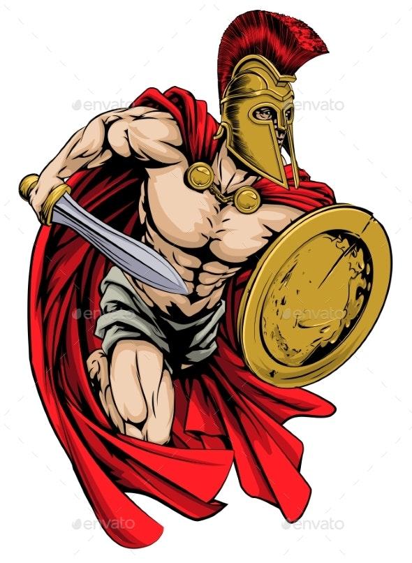 Spartan Mascot - Sports/Activity Conceptual
