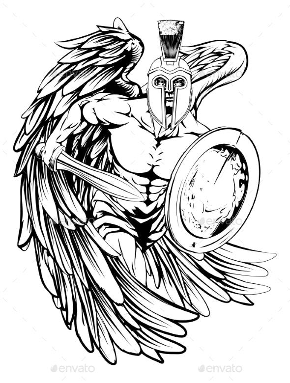Angel Mascot - Sports/Activity Conceptual