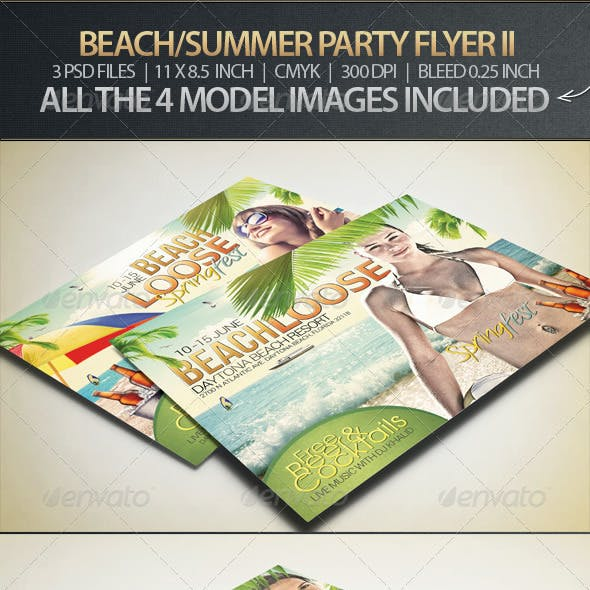 Beach, Spring or Summer Party Flyer II