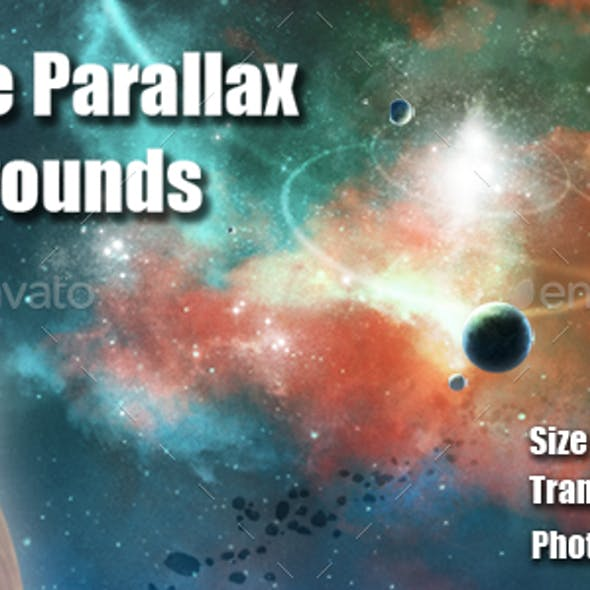 7 Space Parallax Backgrounds