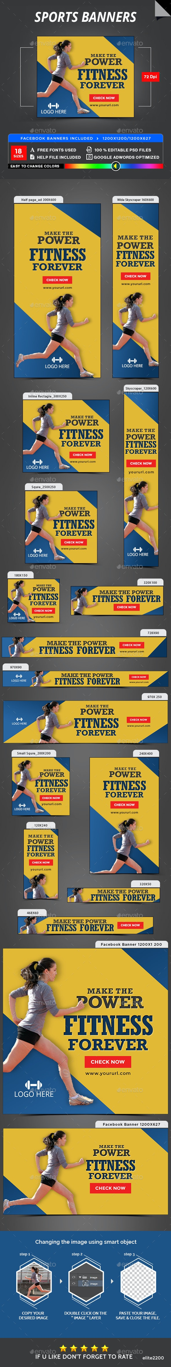 Sports Banners - Banners & Ads Web Elements