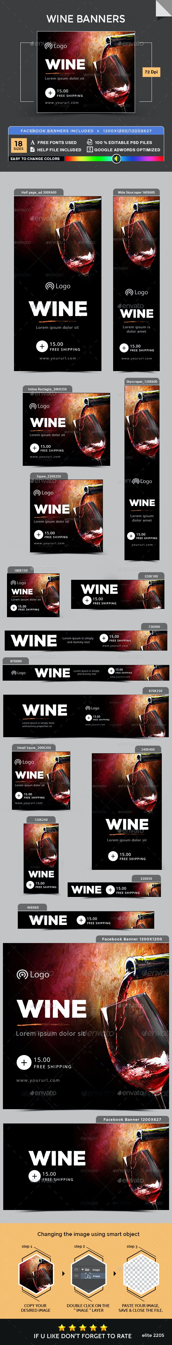 Wine Banners - Banners & Ads Web Elements