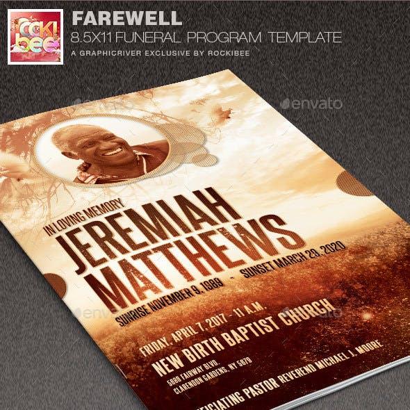 Farewell Funeral Program Template