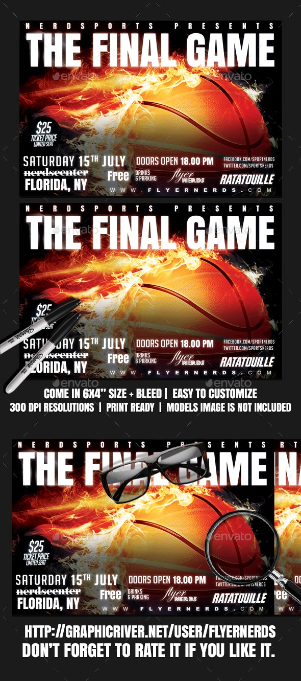 Basketball Final Game Sports Flyer - Sports Events