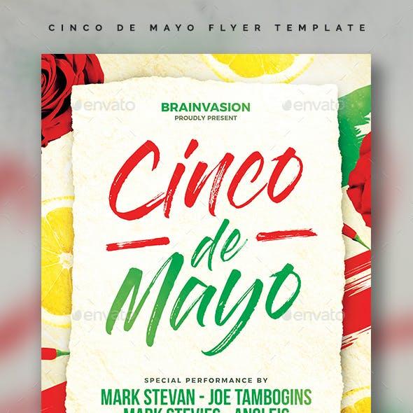 Cinco De Mayo Flyer Template Vol.02