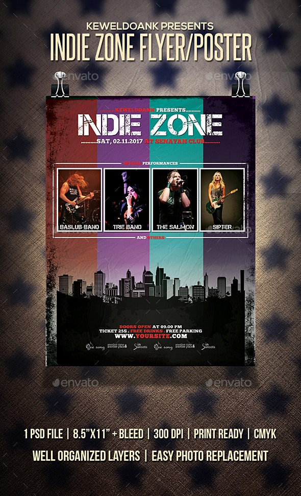 Indie Zone Flyer / Poster - Events Flyers