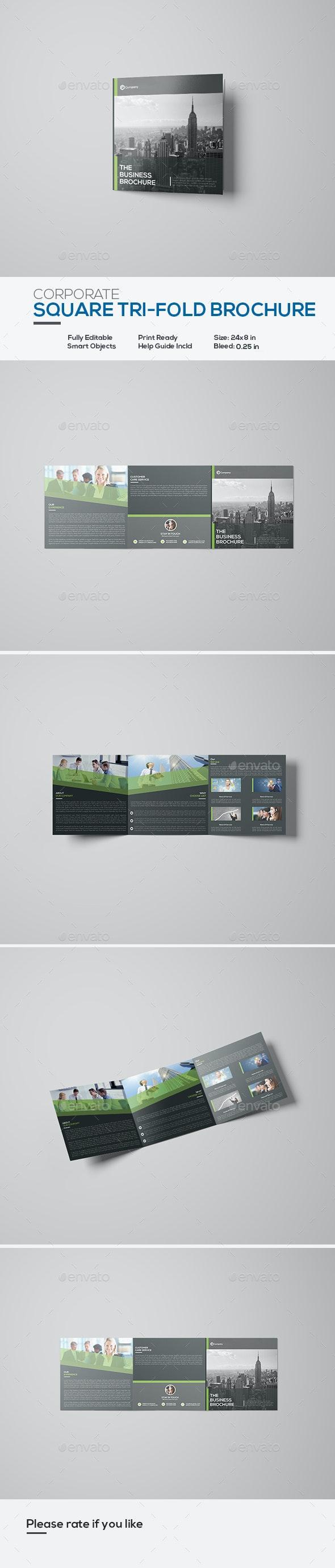 Square Corporate Tri-Fold Brochure - Corporate Brochures