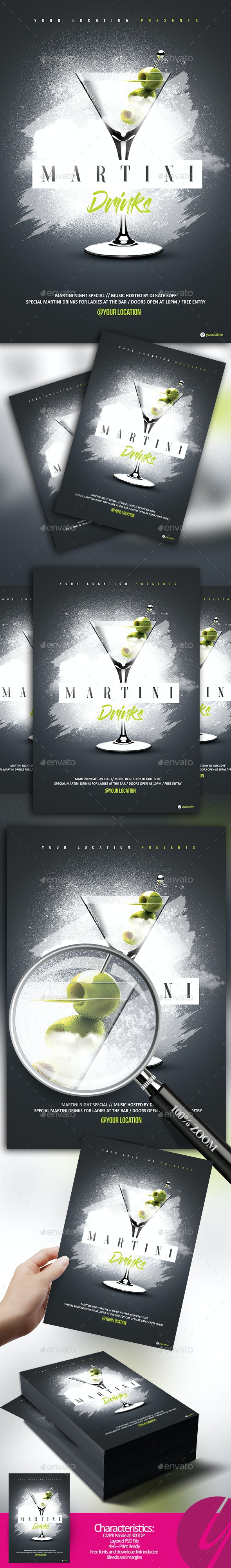 Martini Drinks - Clubs & Parties Events