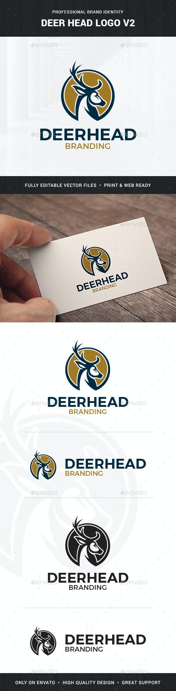 Deer Head Logo Template v2 - Animals Logo Templates