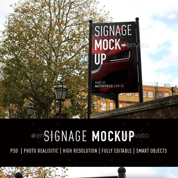 Smart Signage Mockup