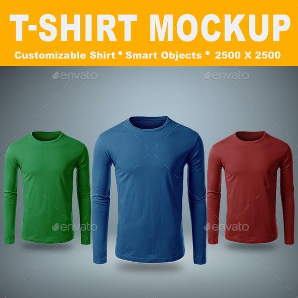 T-Shirt Long Sleeve Mock-Up Vol.3