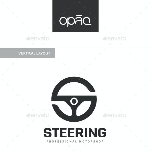 Steering Wheel S Letter Logo