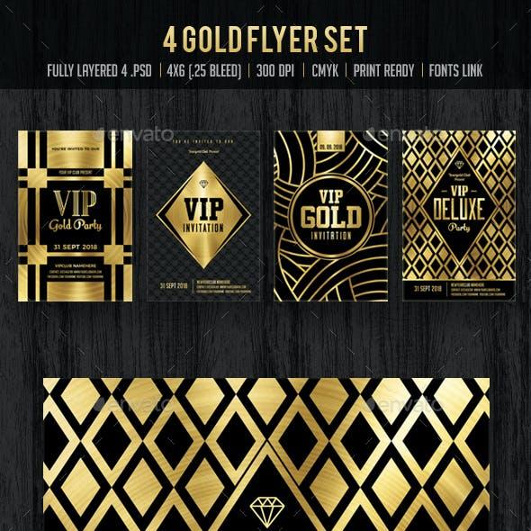 Gold Flyer Set / Gold Invitation