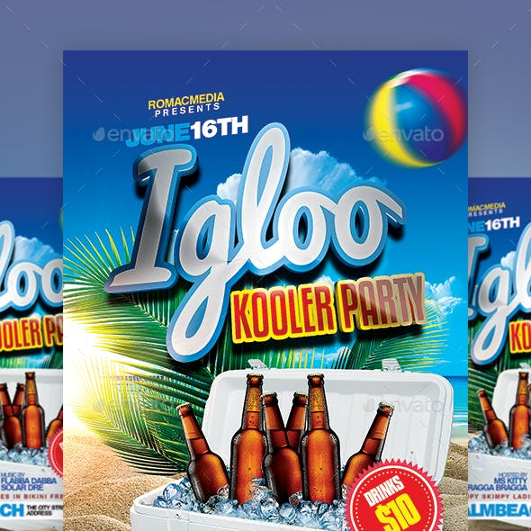 Igloo Cooler Party Flyer