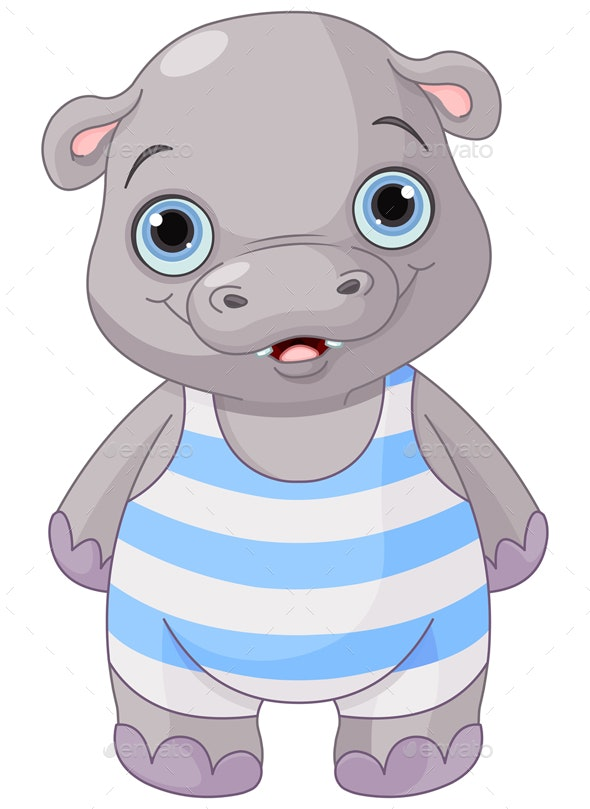 Baby Hippo - Animals Characters