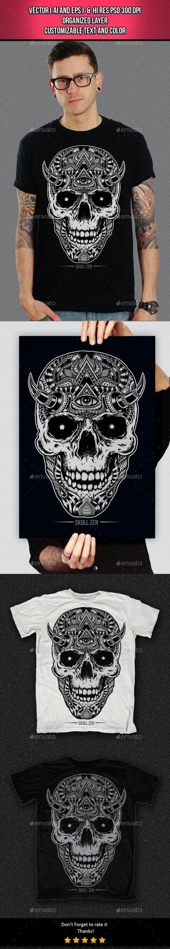 Skull Zen - Clean Designs
