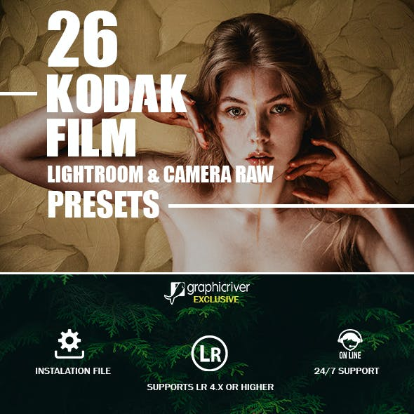 26 Kodak Film Presets For Lightroom & Camera Raw