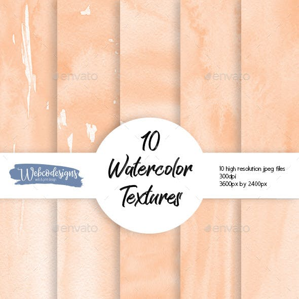 10 Coral Watercolor Backgrounds