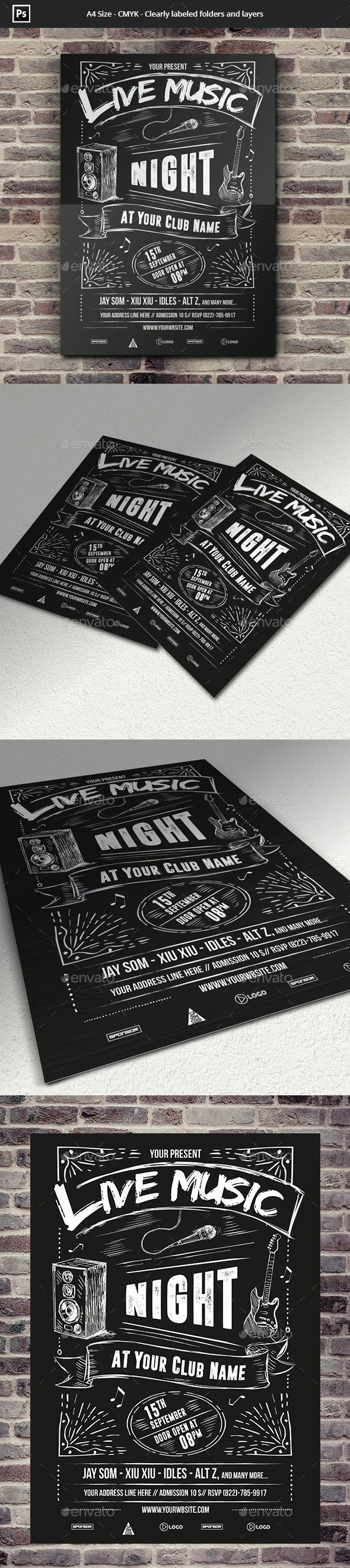 Live Music Flyer Template - Concerts Events