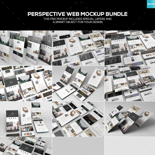 Perspective Web Mockup Bundle