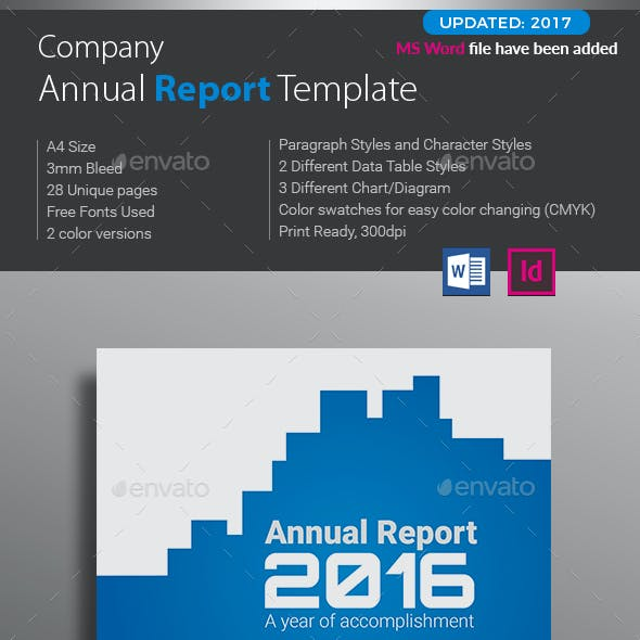 Annual Report Word Graphics Designs Templates