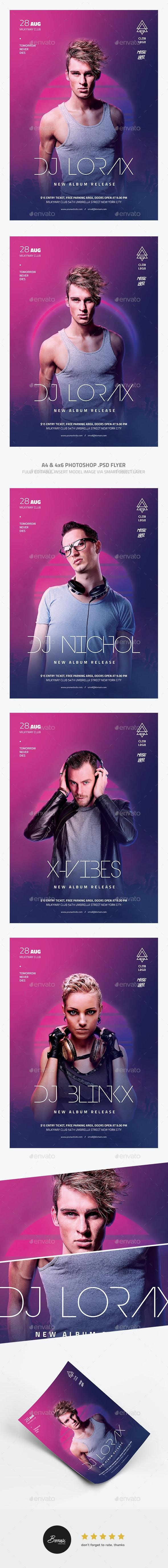 Minimal DJ Flyer - Concerts Events