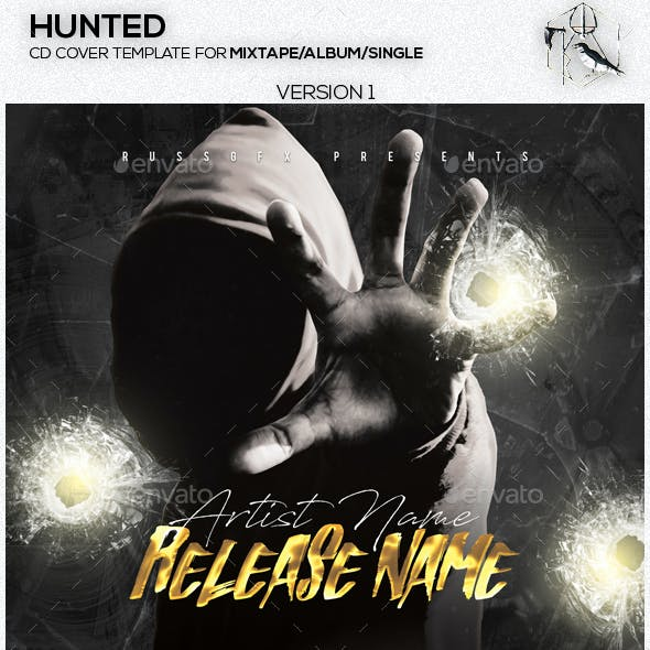 Hunted PSD CD Mixtape Cover Template