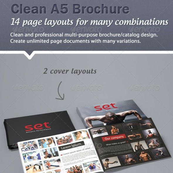 Clean, professional A5 brochure / catalogue