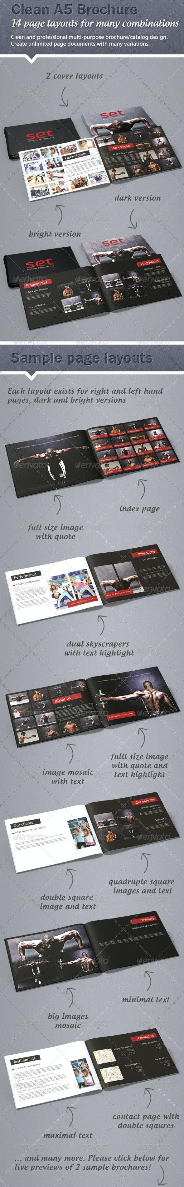 Clean, professional A5 brochure / catalogue - Corporate Brochures