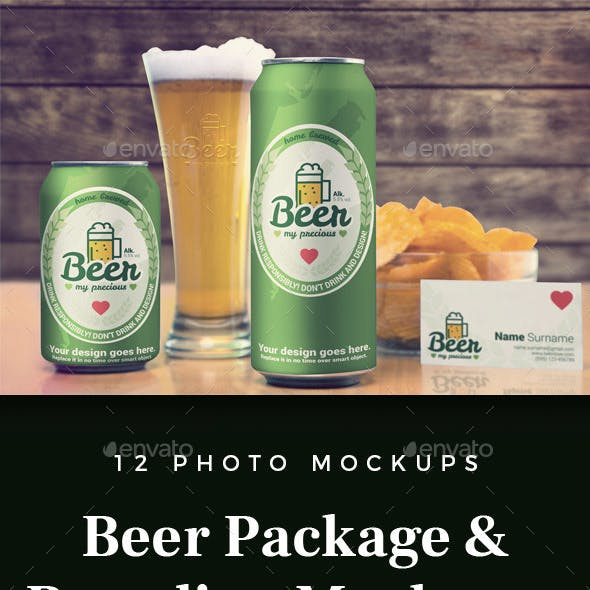 Beer Package & Branding Mock-up