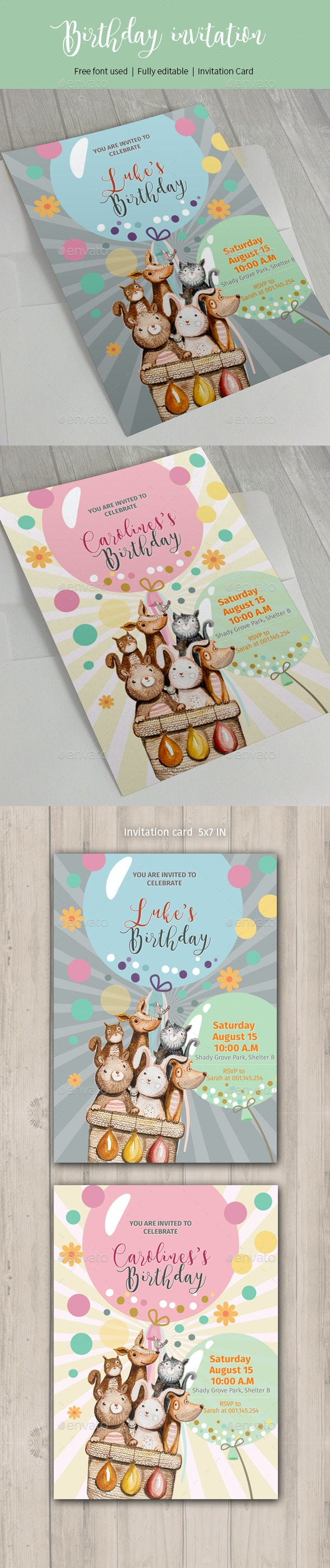 Birthday Invitation Card - Invitations Cards & Invites