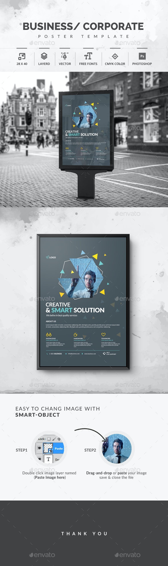 Corporate Business Poster - Signage Print Templates