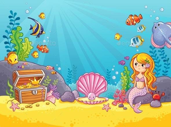 Background with an Underwater World - Landscapes Nature