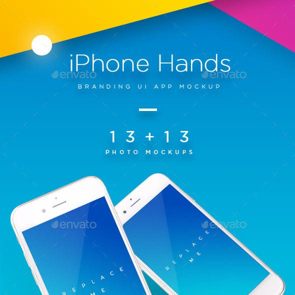 iPhone Mock-up Brending Templates with Vivid and Clean Backgrounds