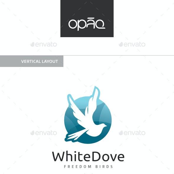 White Dove Bird Logo