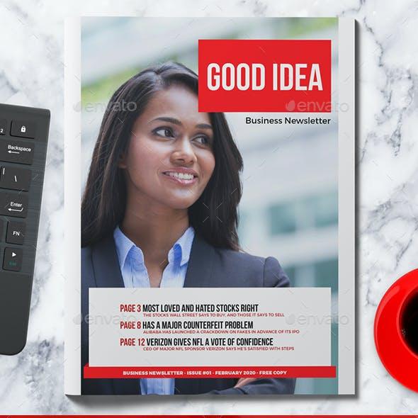 GOOD IDEA Newsletter
