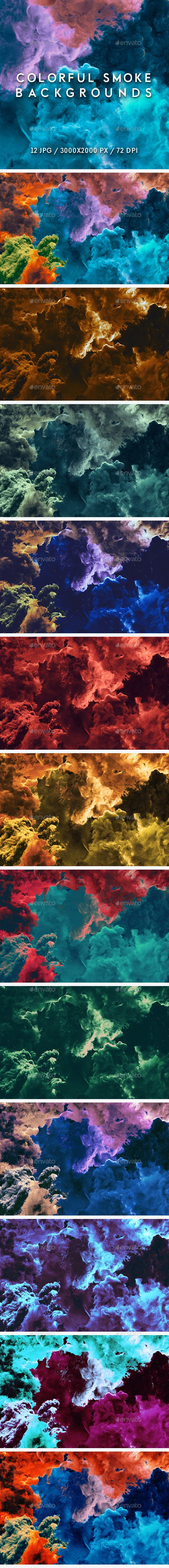 Colorful Smoke Backgrounds - Abstract Backgrounds