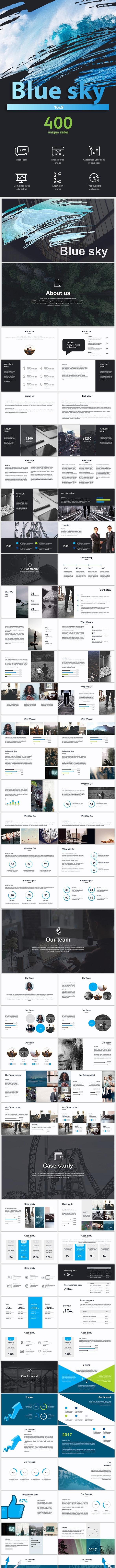 Blue sky Keynote template - Business Keynote Templates