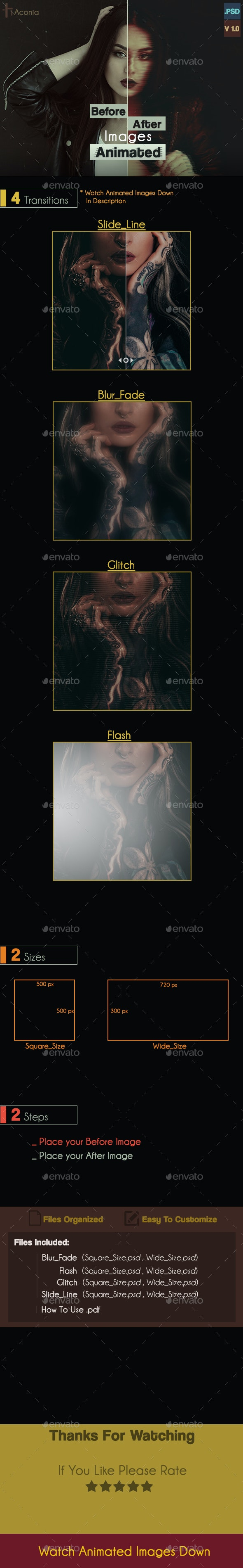 Before/After  Images animated Generator - Banners & Ads Web Elements