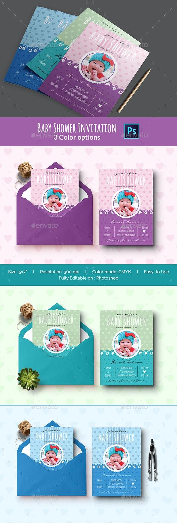Baby Shower Invitation - Print Templates