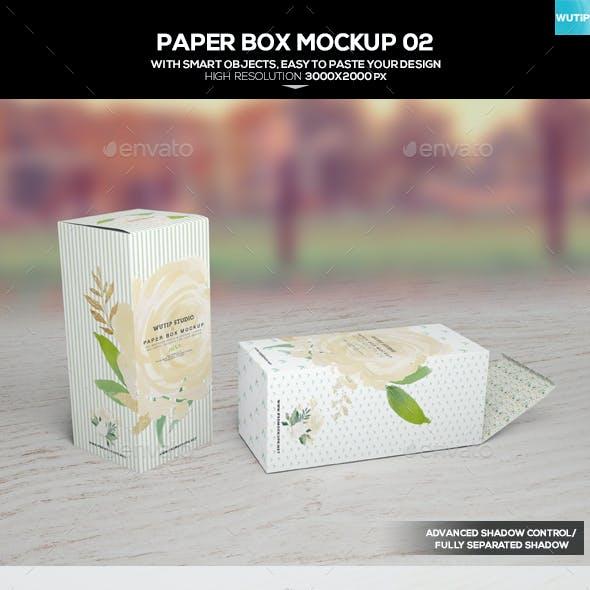 Paper Box Mockup 02