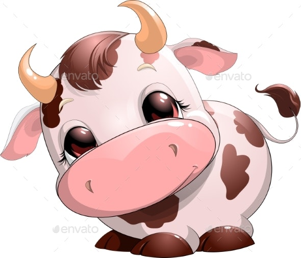 Baby Cow Cartoon - Animals Characters