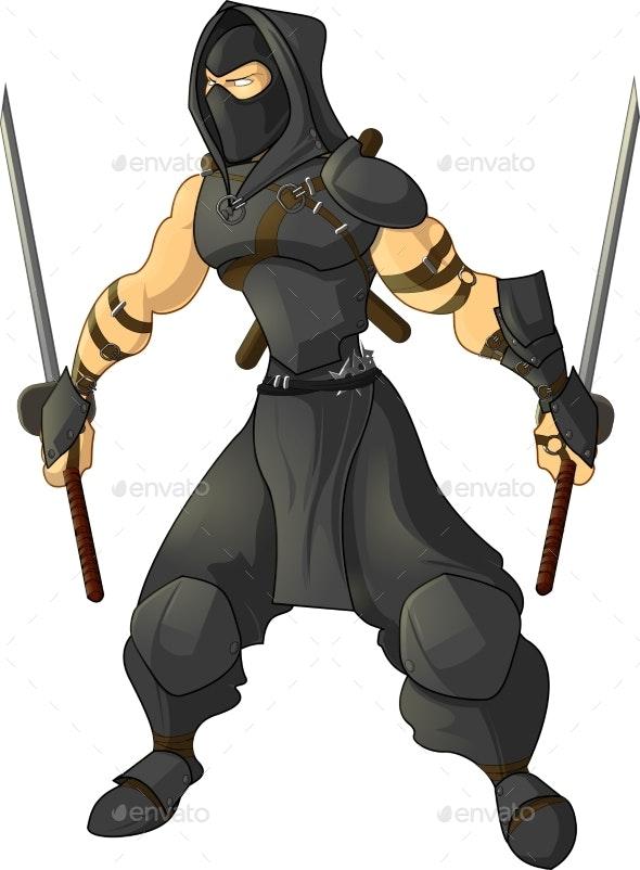 Gaming Character Ninja - Sports/Activity Conceptual