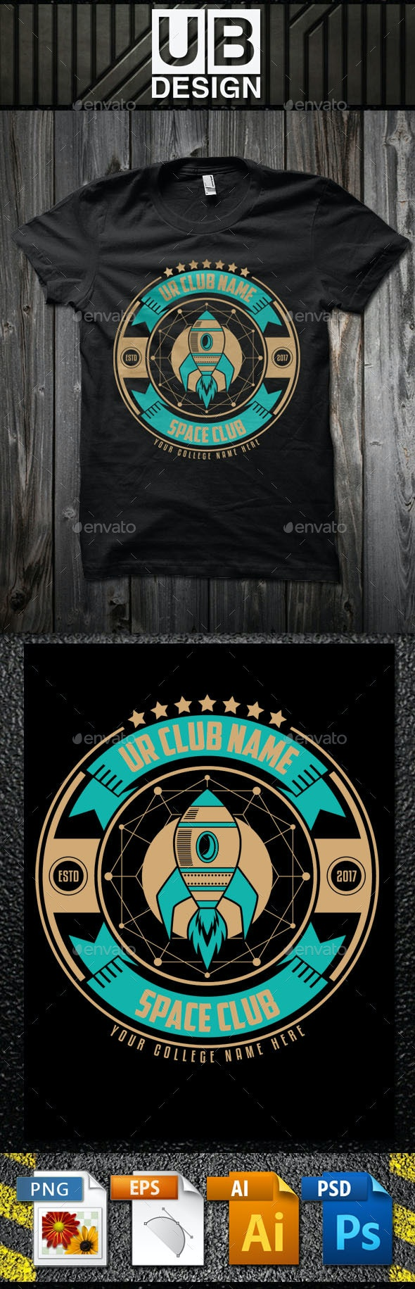Space Club T-Shirt Template - Academic T-Shirts