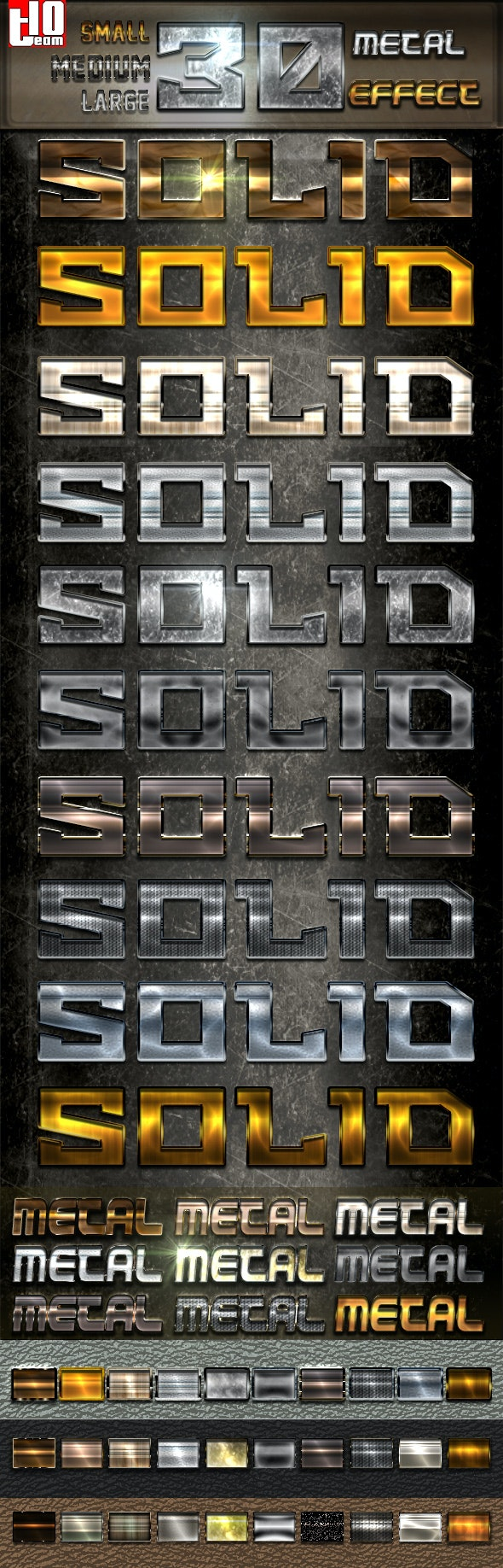 30 Metal Light - Text Effects Styles